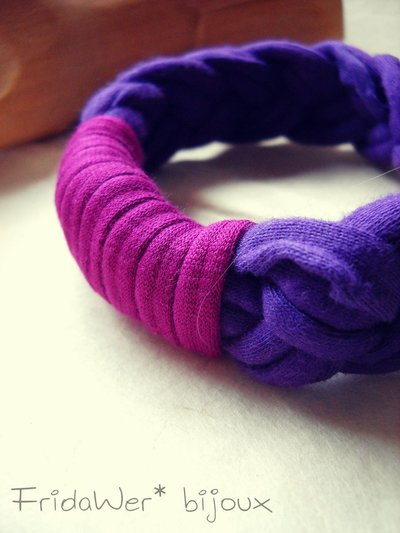 Bracciale Milleintrecci POP - Viola e Fucsia Fantasia by FridaWer