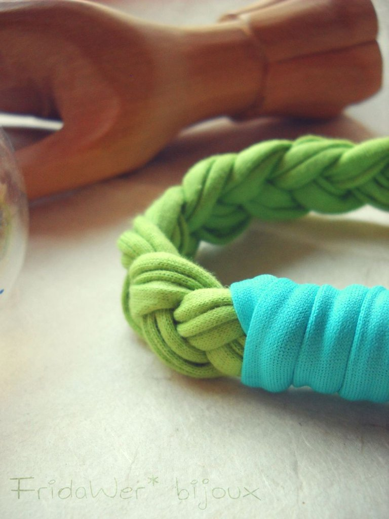 Bracciale Milleintrecci POP - Verde e Celeste by FridaWer