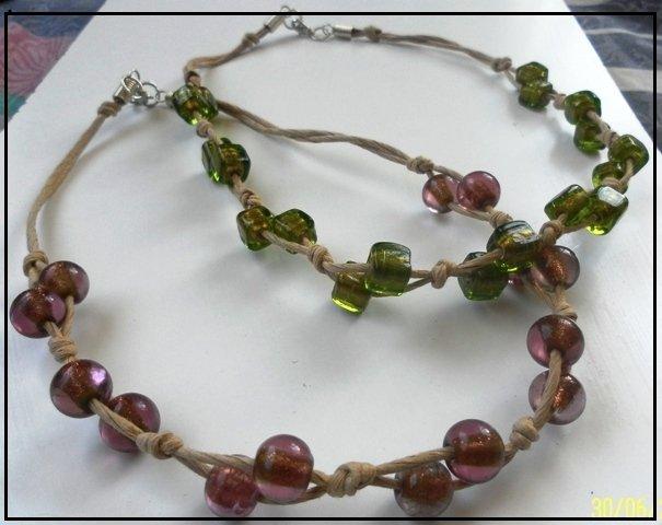 Collane con pietre di vetro e corda gioielli collane di la ga su misshobby - Collane di design ...