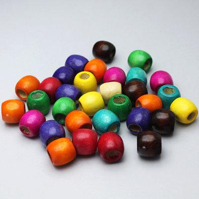 30 perle in legno colorato