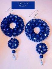 """orecchini """"electric blue"""""""