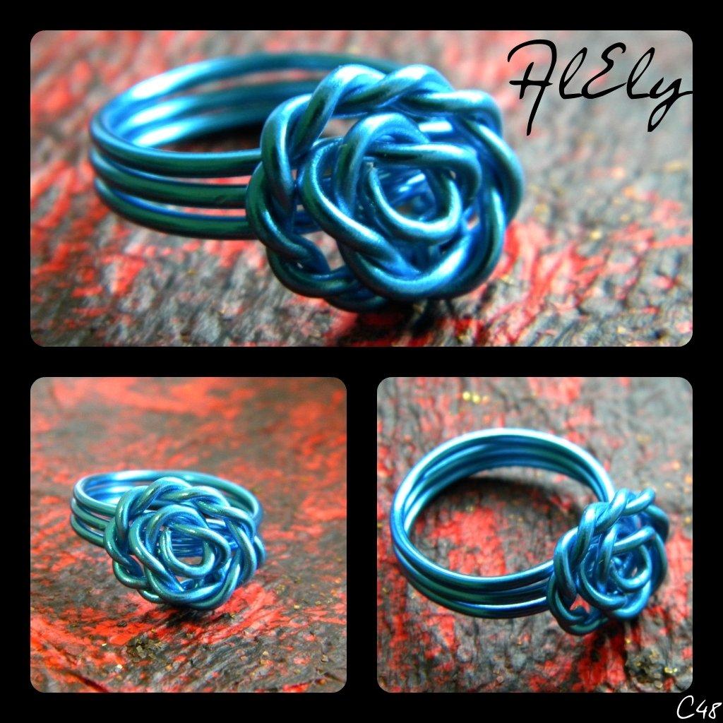 """C48 anello wire """"Fiore di Loto"""""""