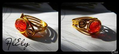 """C55 anello wire """"Occhio di Sauron"""""""