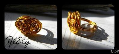"""C57 anello wire """"Elisabetta"""""""