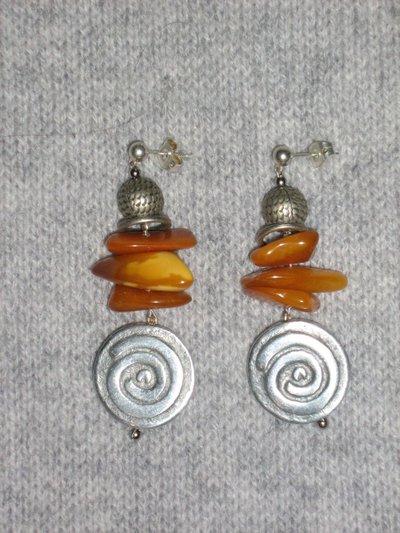 """orecchini in ambra """"Estonia"""""""