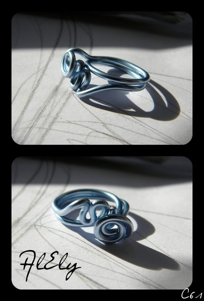 """C61 anello wire """"L'onda"""""""