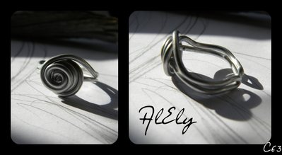 """C63 anello wire """"Rosa di Pietra"""""""