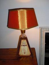 Lampada Rum J BALLY Piramide 01 e paralume in organza
