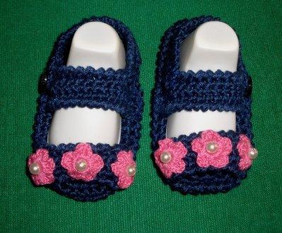 Scarpine scarpette sandalini bimba cotone uncinetto