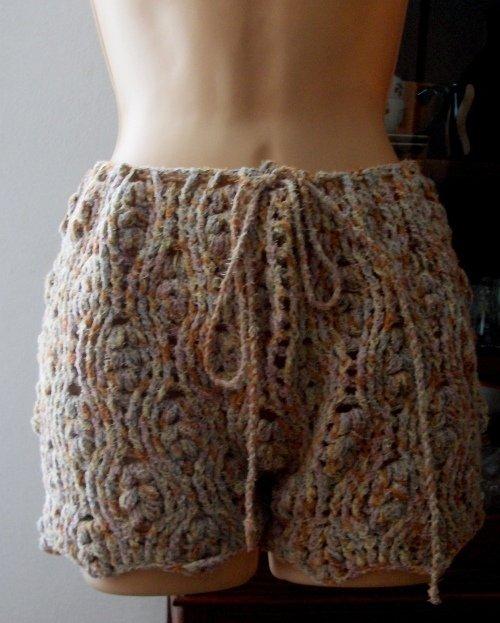 Pantaloncini shorts donna uncinetto