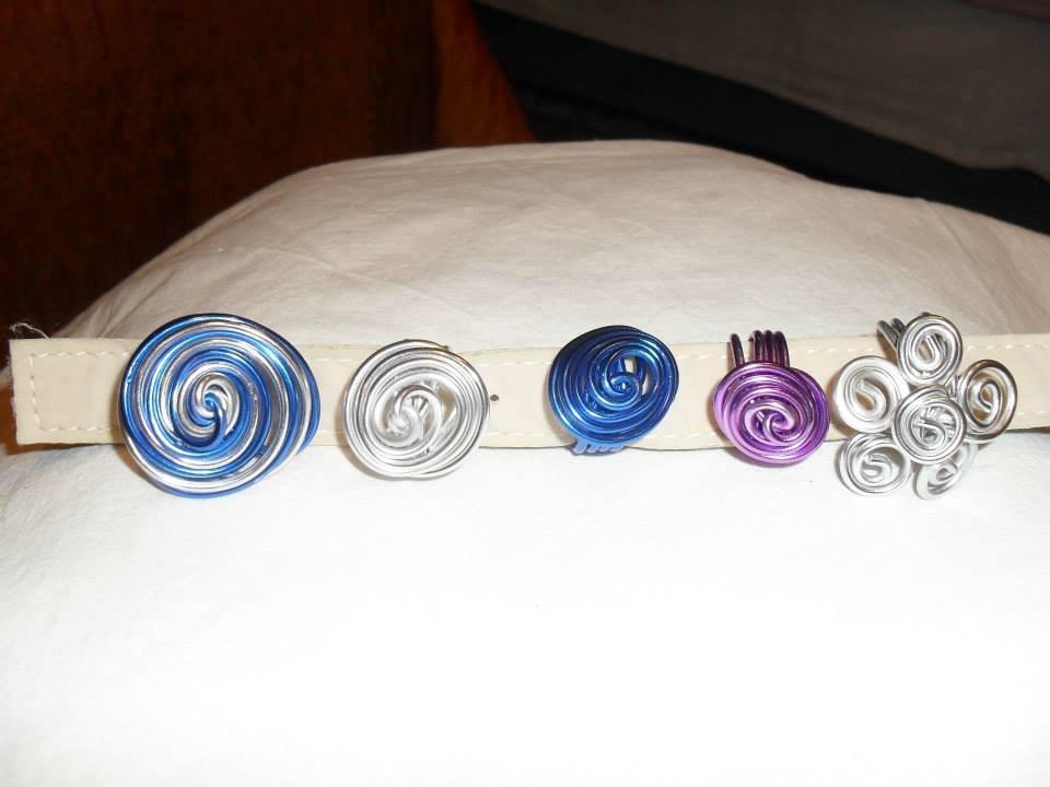anelli in filo metallico
