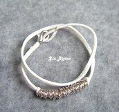 Bracciale anellini bianco