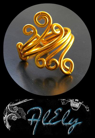 """C72 anello wire """"L'incoronata"""""""