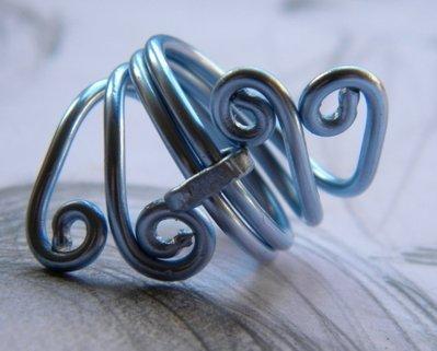 """C77 anello wire """"BlueMoon"""""""
