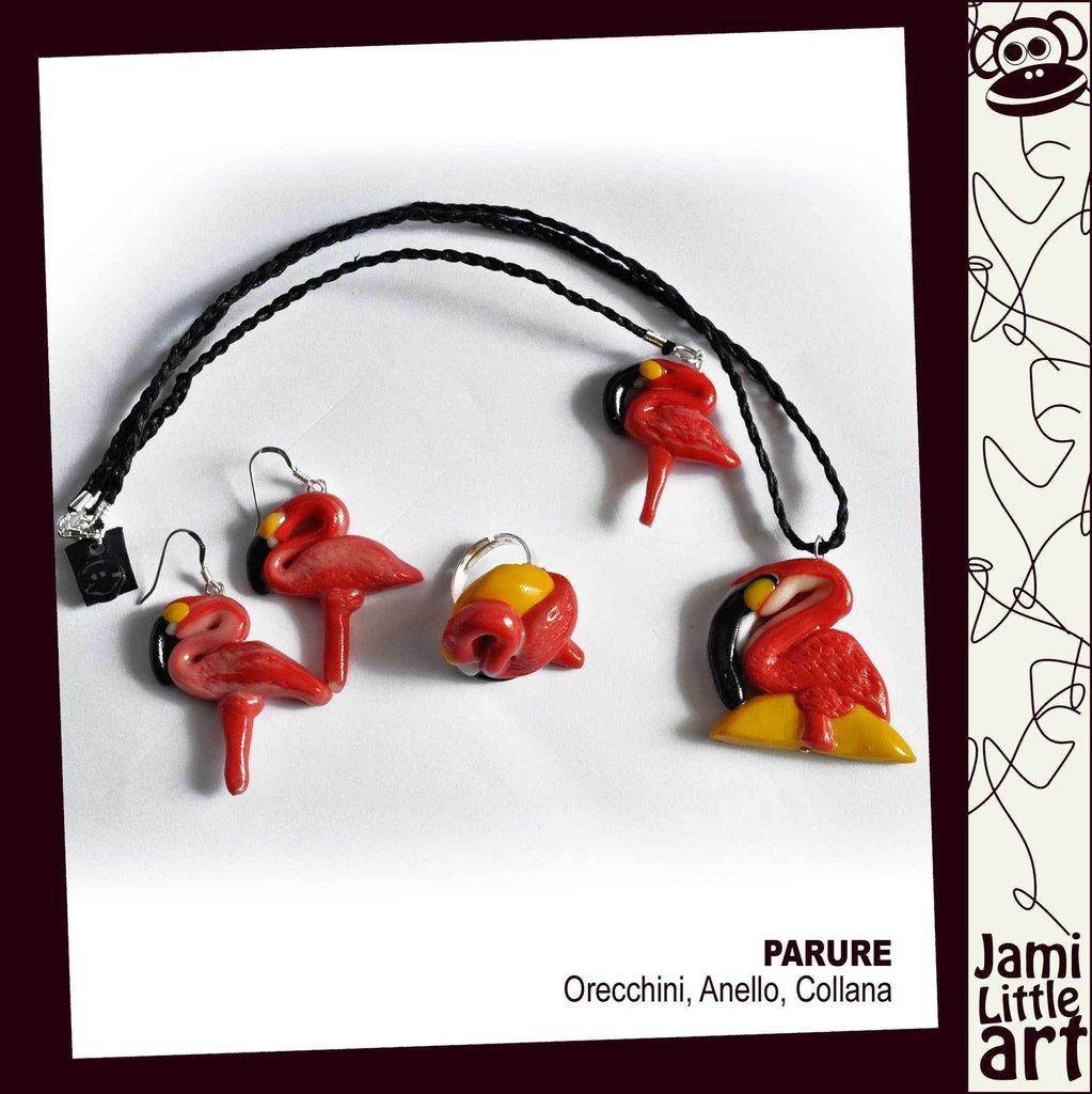 Art_0044F1_Parure Animali Anello, Collana e Orecchini