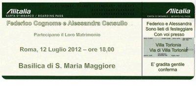 PARTECIPAZIONI MATRIMONIO STILE MODERNO FREE STYLE