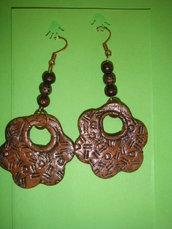 orecchini stile etnico in fimo fatti a mano