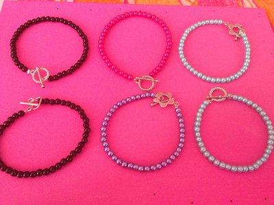 braccialetto con perline