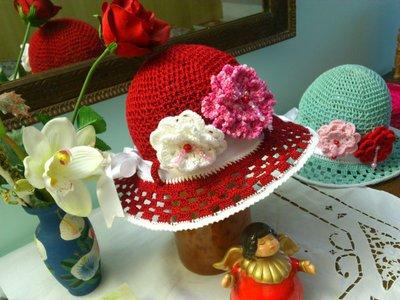 cappellino estivo di cotone bordo per bimba  3-7 anni