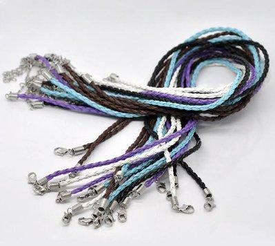 collana intrecciata in cuoio artificiale 43,2 cm  vari colori disponibili