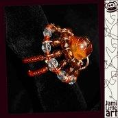 Art_0072_ Anello Perle di Vetro e Swarovski