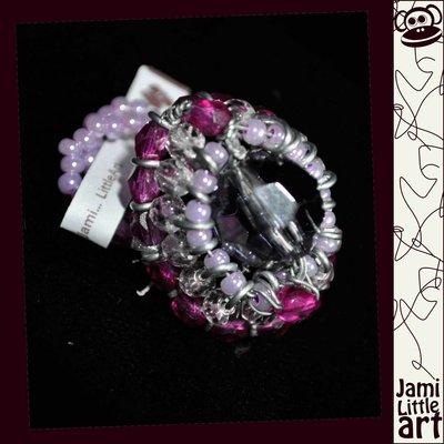 Art_0073_ Anello Perle di Vetro e Swarovski