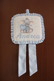Fiocco nascita dipinto - Elefante