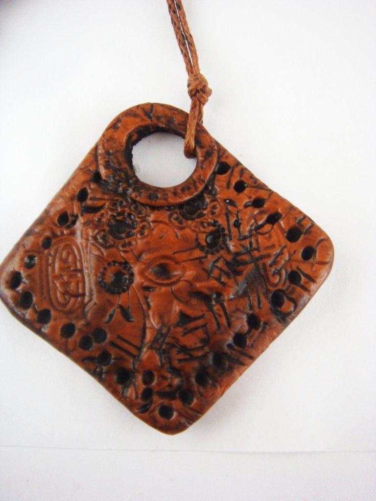 portachiavi stile etnico in fimo handmade