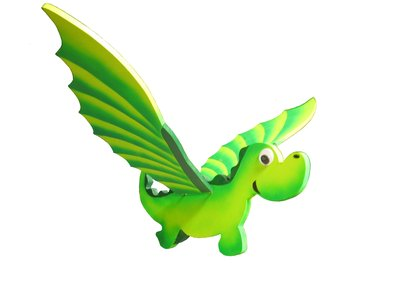 Draghetto verde da appendere, muove le ali con un semplice gesto