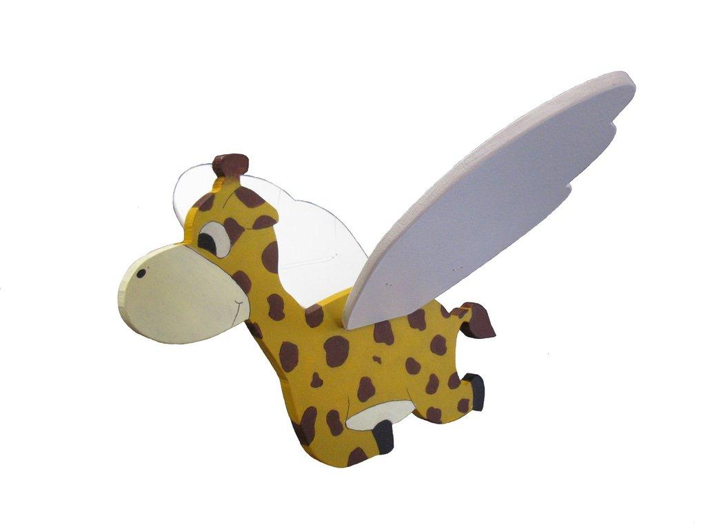 Giraffa da appendere, muove le ali con un semplice gesto