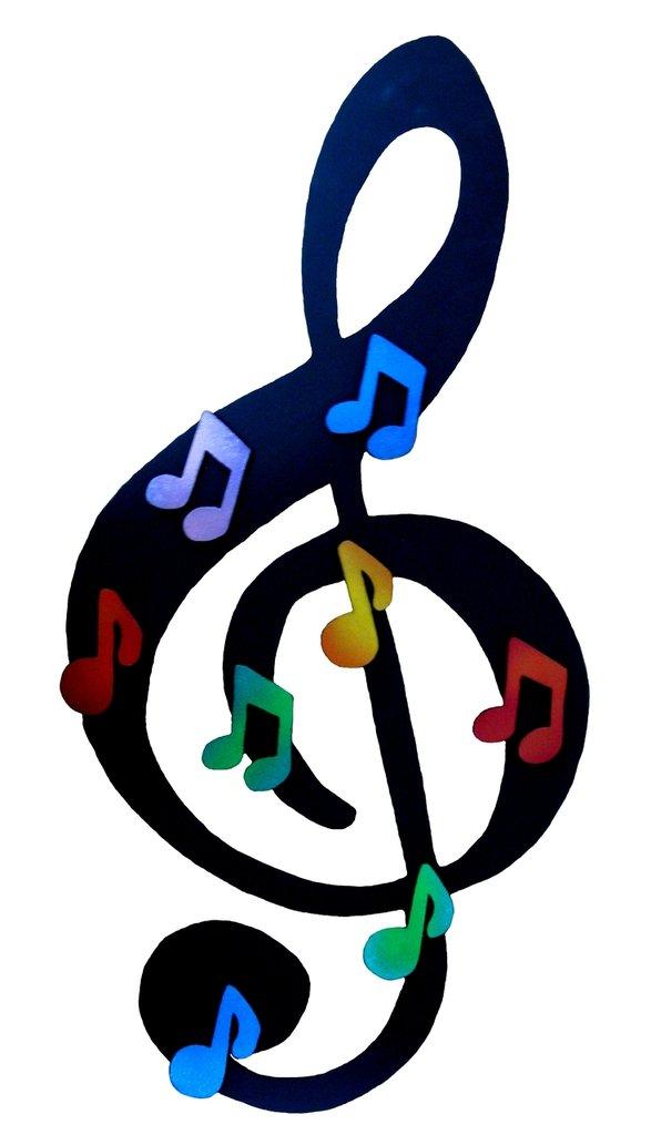 Lavagna magnetica Chiave di Violino - fatta a mano