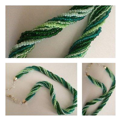 Collana torchon verde