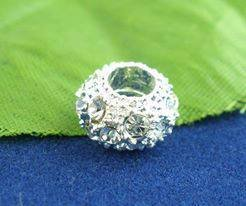 perle strass foro largo 10x6 mm 0,40 cad
