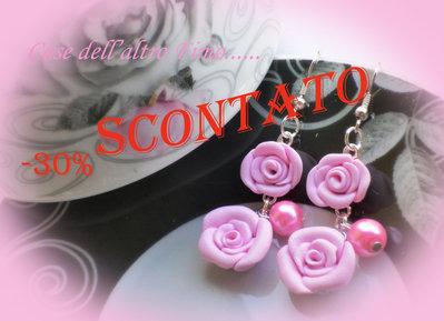 Orecchini Rose di Primavera Rosa