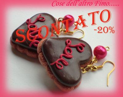 Orecchini Biscotto Love