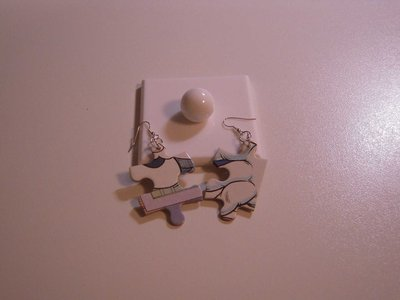 orecchini puzzle