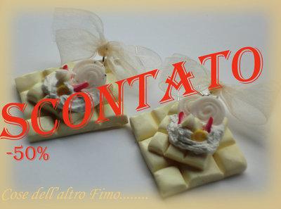 Orecchini barretta cioccolato bianco