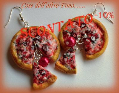 Orecchini Pizza Salamino Piccante