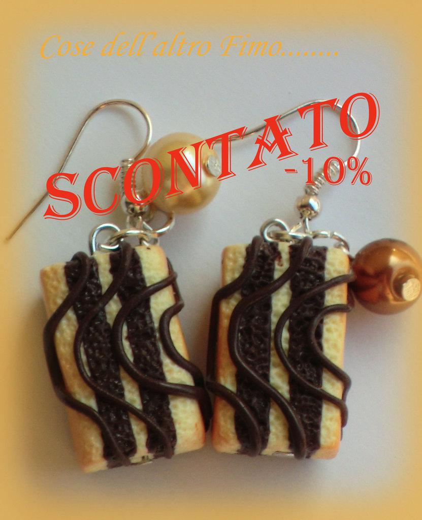 Orecchini Tegolino Cioccolato