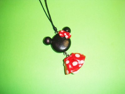 "collana con ciondolo ""minnie"" in fimo handmade"