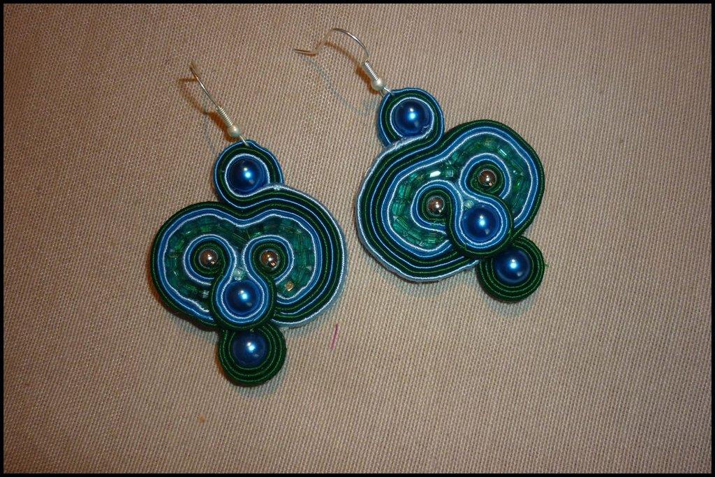 Orecchini delle Fate bluette, azzurri e verdi
