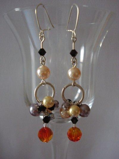 orecchini perle e swarovski