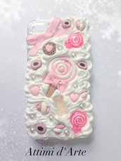 "cover iphone 4/4s fantasia pannosa ""con lollipop"" total handmade"
