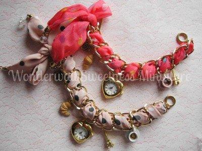 Orologio bijoux handmade con ciondoli in fimo