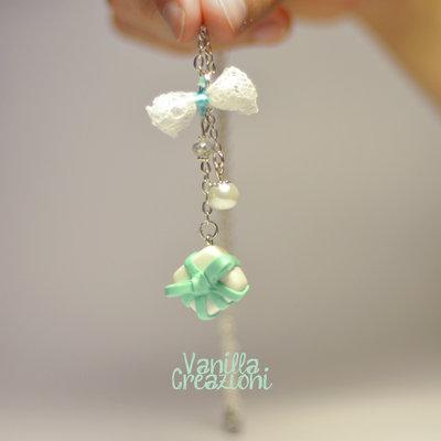 Collana con charms in fimo - Tiffany inspired