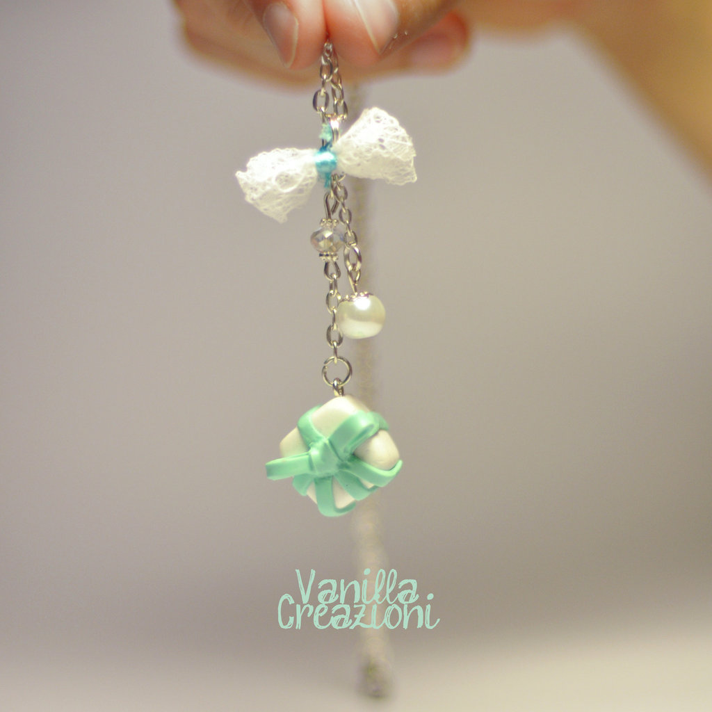Collana con charms in fimo - Tiffany inspired