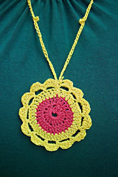 cotton flower collana a fiore