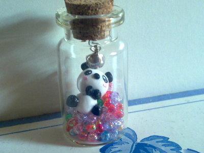 panda in bottiglia