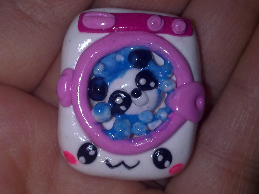 panda in lavatrice