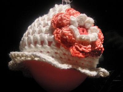 """cappellino bambino """"fiore"""""""